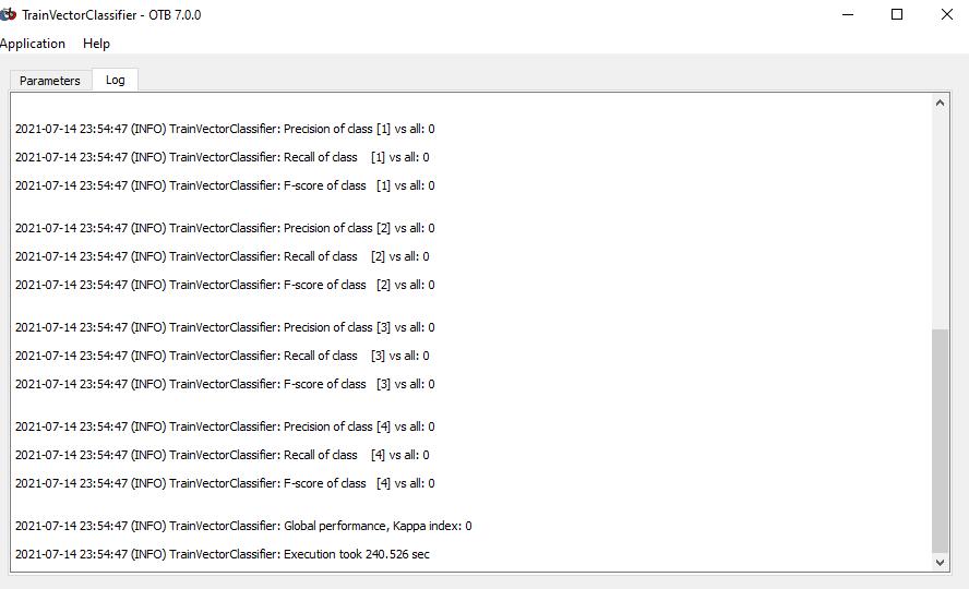 trainingvector log